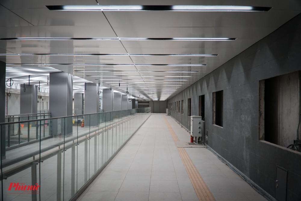 Tầng B1 ga Ba Son thuộc tuyến Metro số 1 cơ bản đã hoàn thành