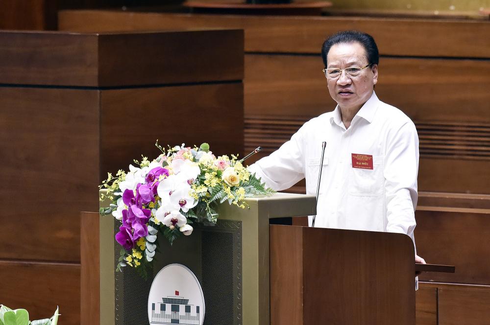 GS.TS Phùng Hữu Phú báo cáo chuyên đề.