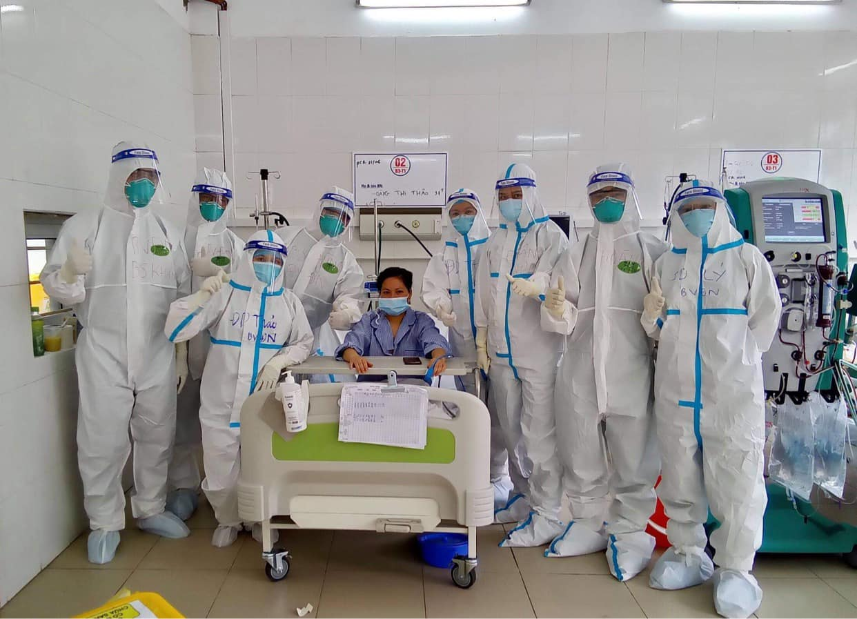 Hiện tại, bệnh nhân H.T. T. đã cai máy thở, rút ống nội khí quản thành công và hoàn toàn tỉnh táo.