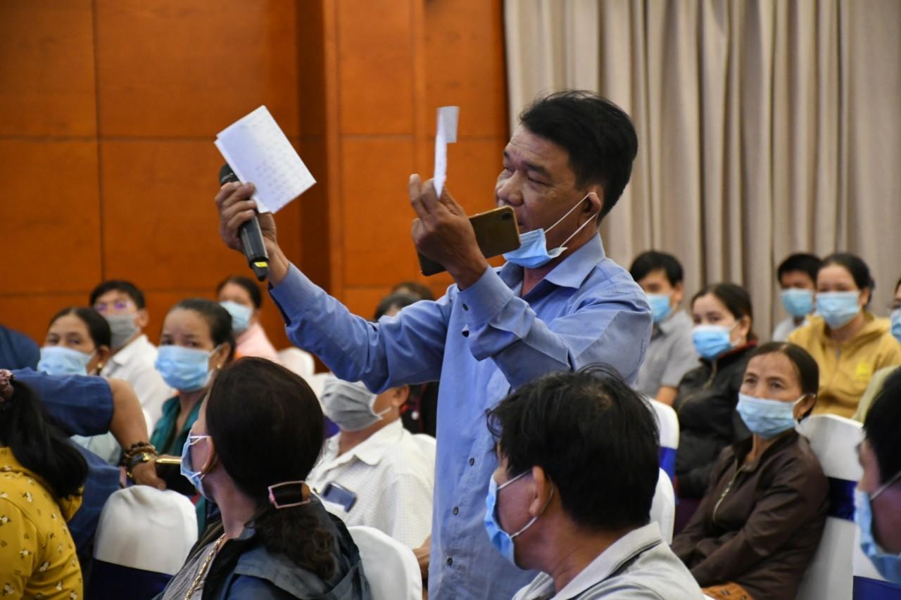 Ông  Nguyễn Tú đại diện người dân gửi tâm thư kiến nghị đến chính quyền tỉnh Quảng Ngãi