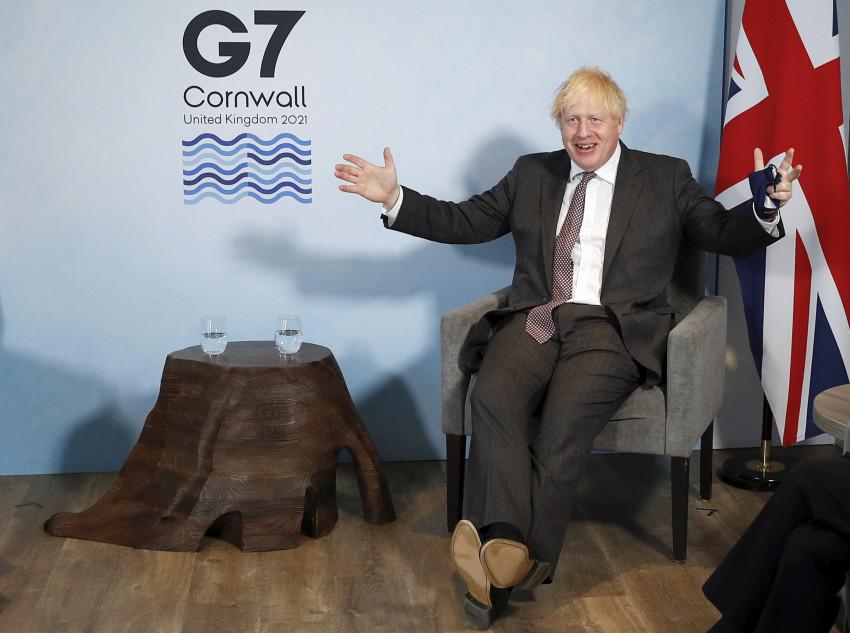 Thủ tướng Boris Johnson tại hội nghị thượng đỉnh G7 ở Cornwall, ngày 12/6.