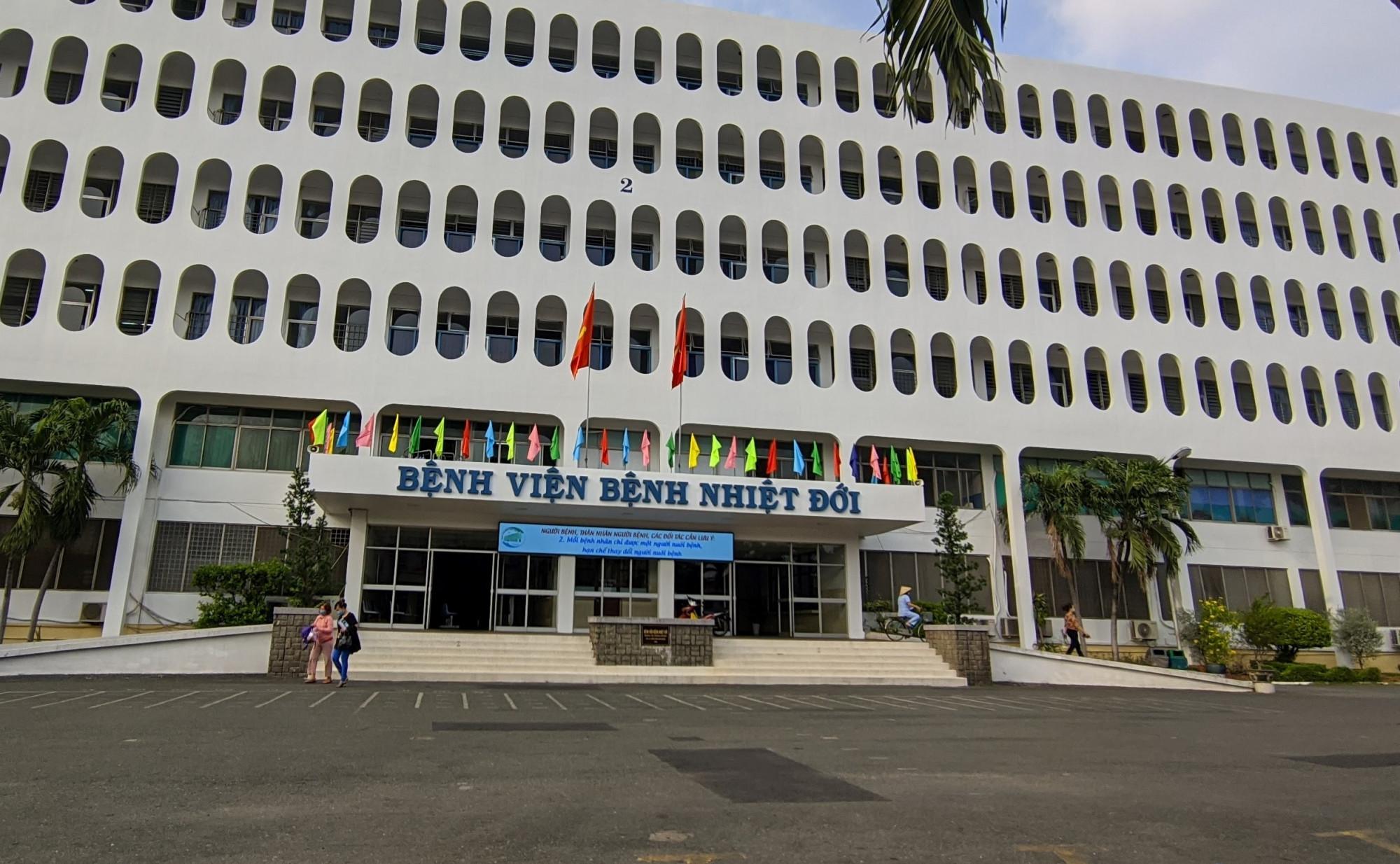 Bệnh viện Bệnh Nhiệt đới TPHCM hiện đang bị tạm phong tỏa.