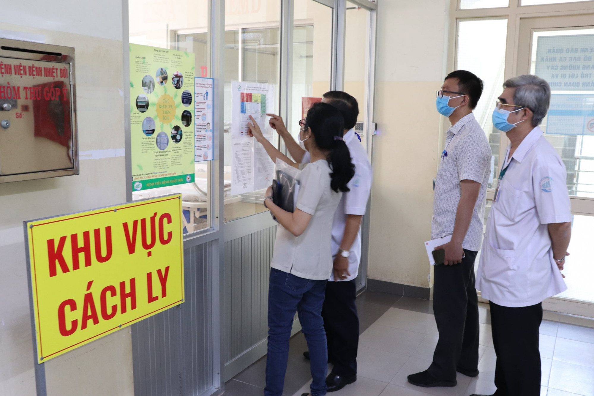 Khu vực điều trị bệnh nhân COVID-19 tại BV Bệnh Nhiệt đới TPHCM