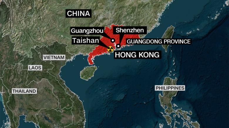 Khu vực có thể chịu ảnh hưởng nếu Nhà máy điện hạt nhân Đài Sơn bị rò rỉ