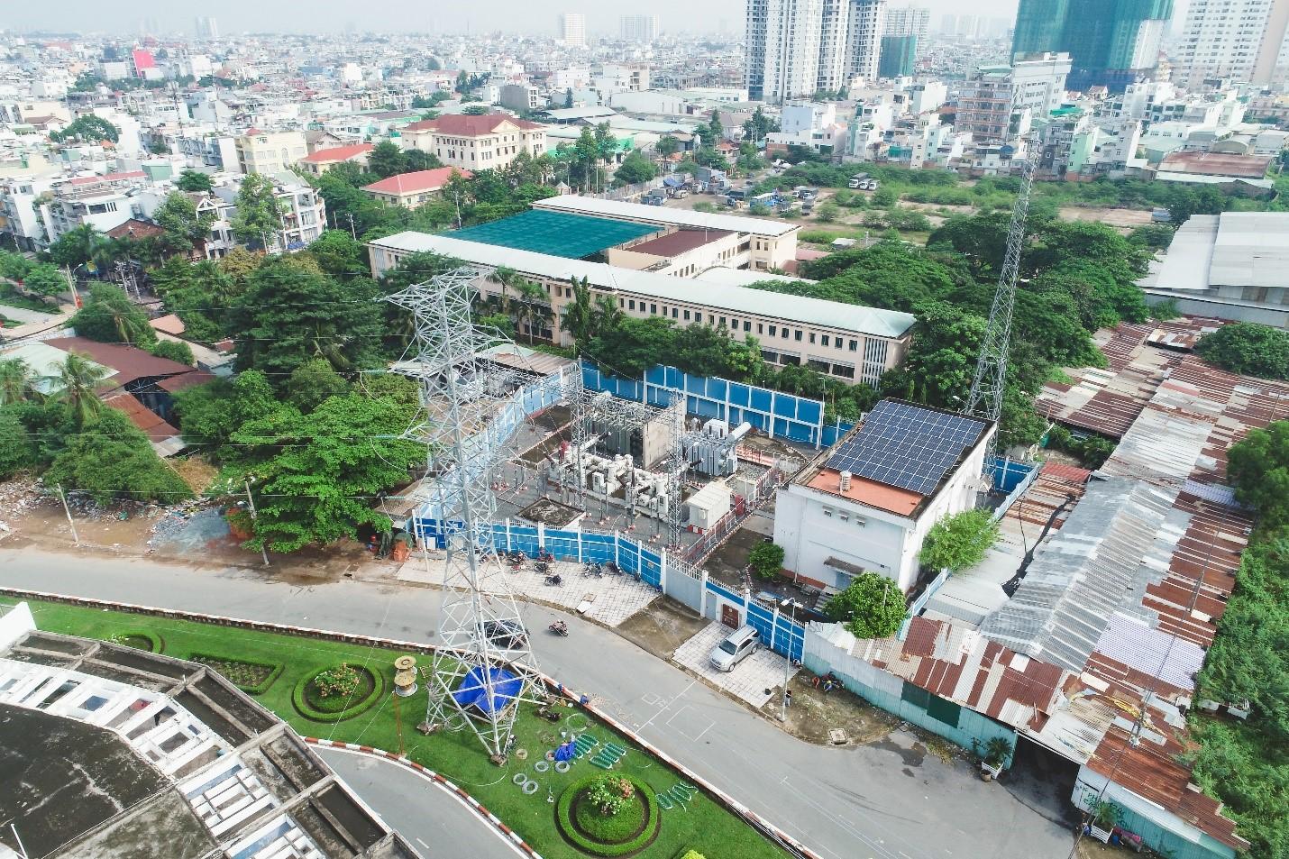 Một phần của tuyến đường dây 110kV Phú Lâm - Phú Định