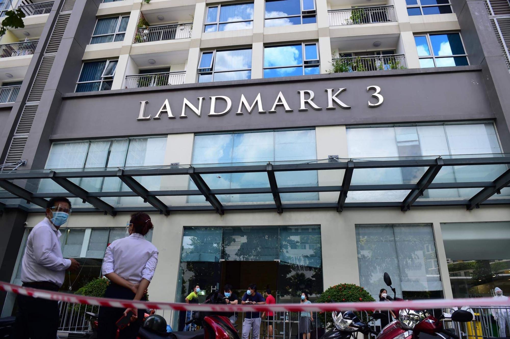 Tòa nhà Landmart 3 đang được phong tỏa tạm thời