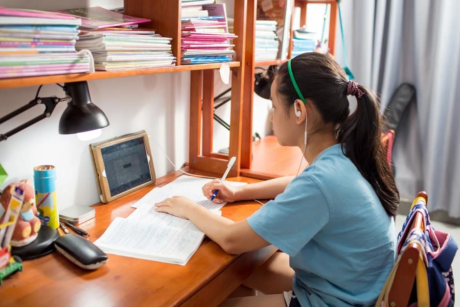 Học sinh ôn tập online