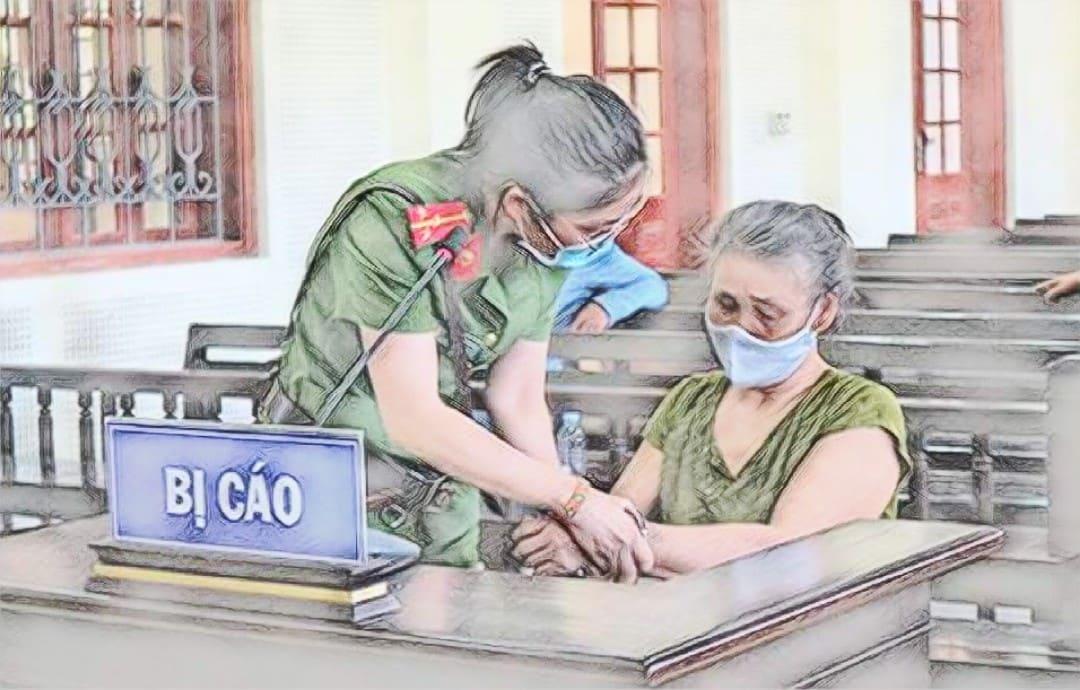 Bị cáo Sầm Thị Hương tại phiên tòa