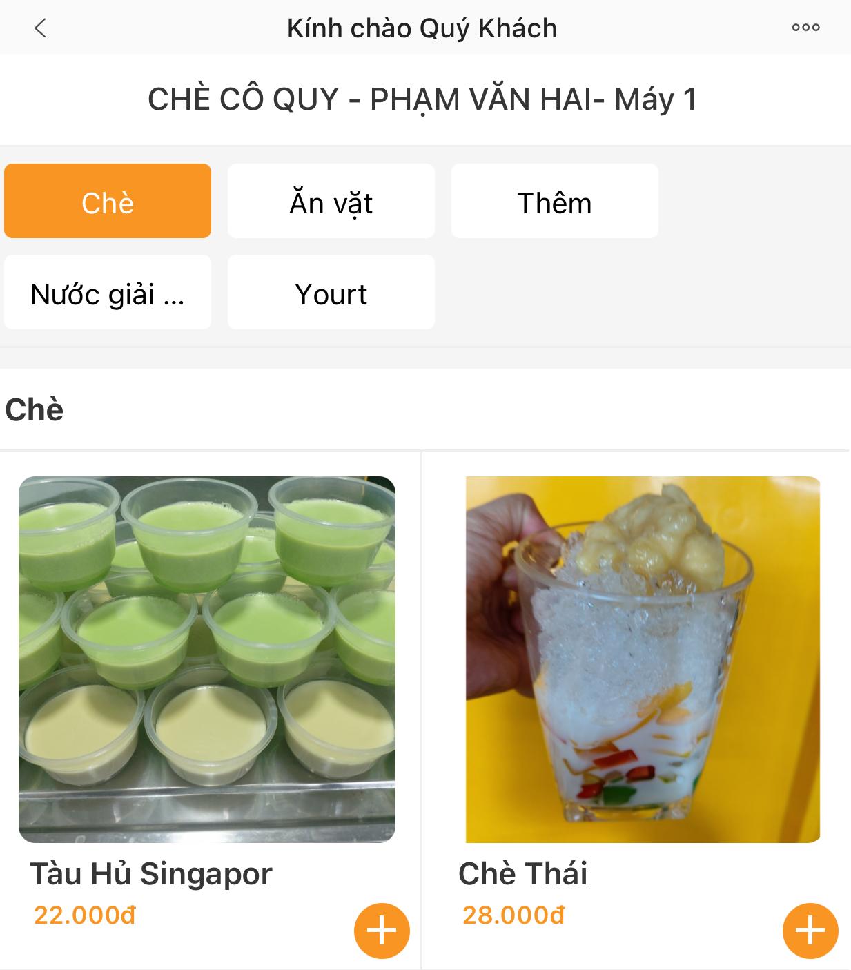 """Gian hàng chè Cô Quy - chợ Phạm Văn Hai """"dọn'' lên trang order.ipos.vn từ khi có dịch"""