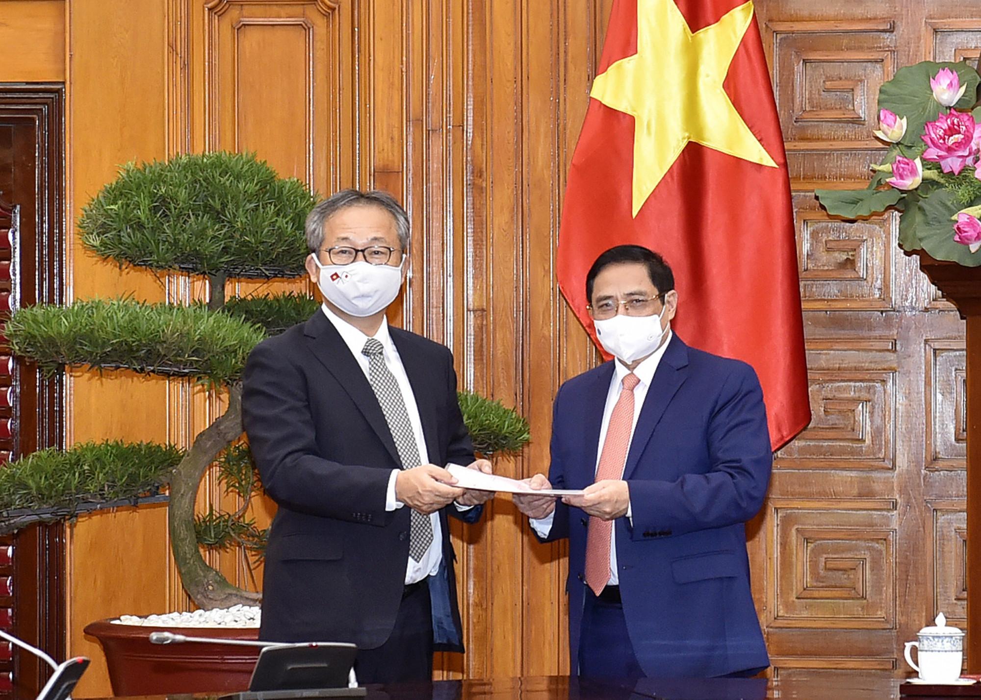 Thủ tướng Chính phủ Phạm Minh Chính đã tiếp Đại sứ Nhật Bản tại Việt Nam Yamada Takio.
