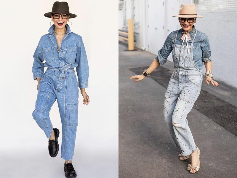 Yếm jeans và jumpsuit denim: