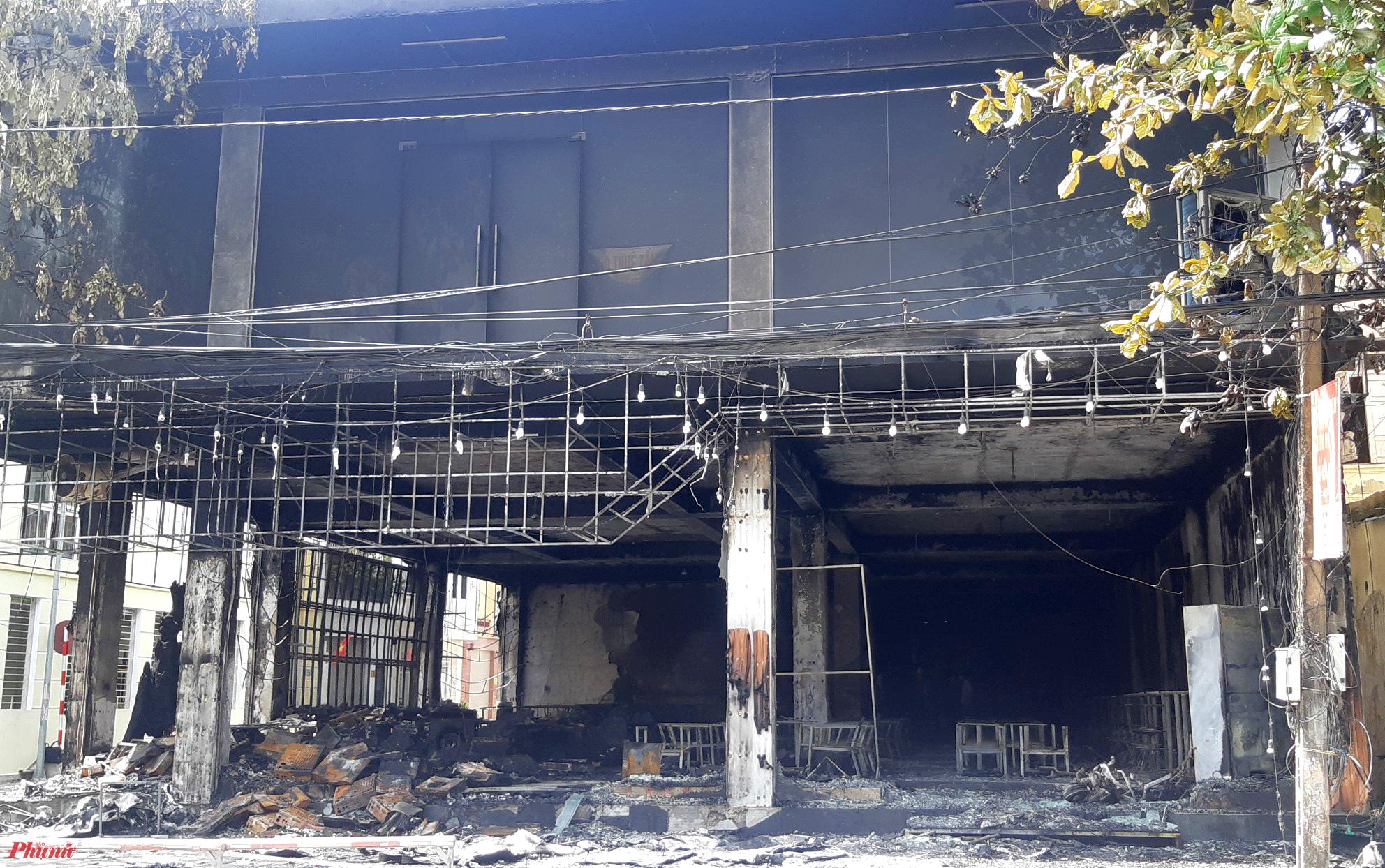 Hiện trường nơi xảy ra vụ cháy kinh hoàng