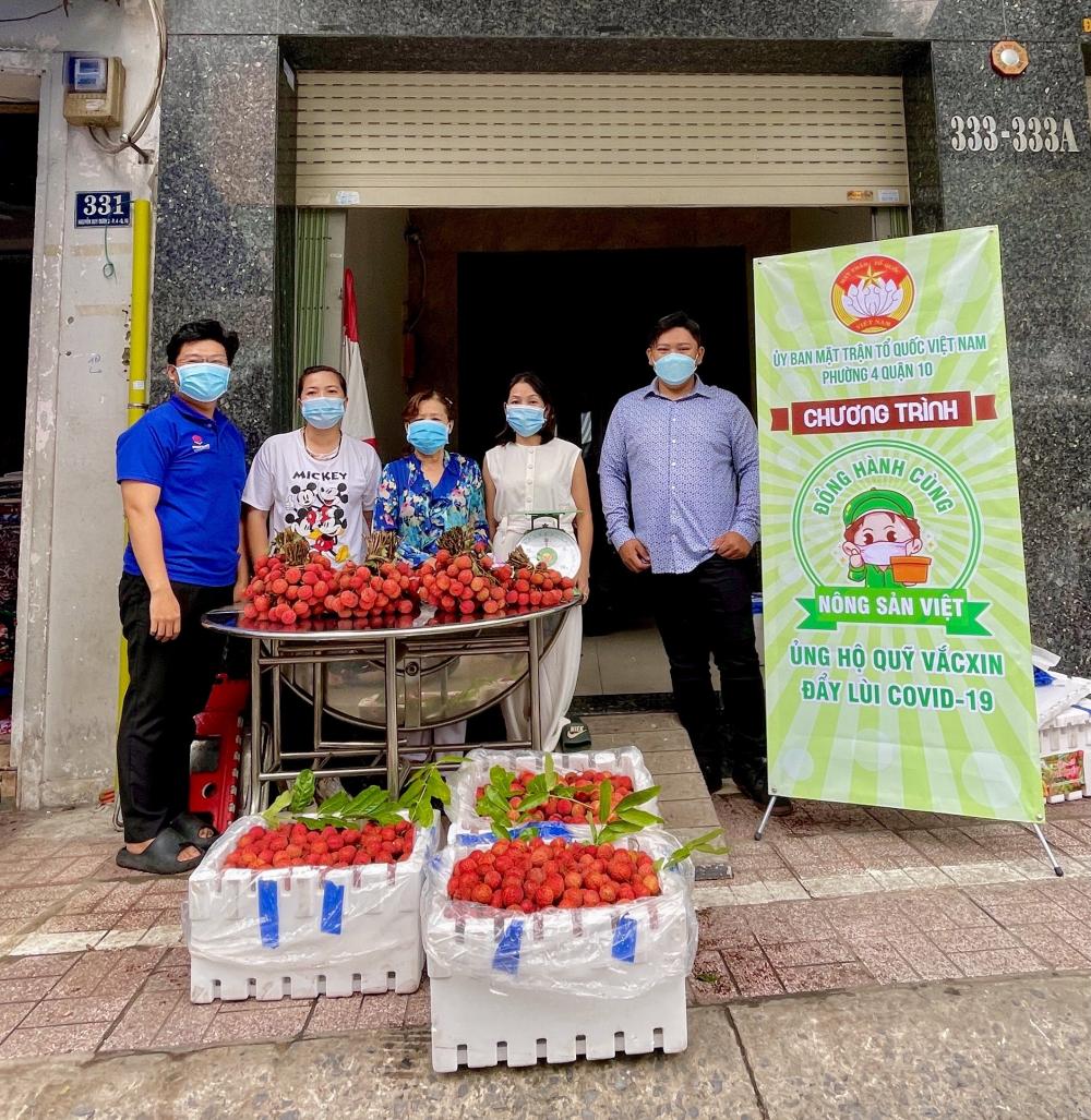Phường 4, quận 10 hỗ trợ tiêu thụ nông sản cho tỉnh Bắc Giang.