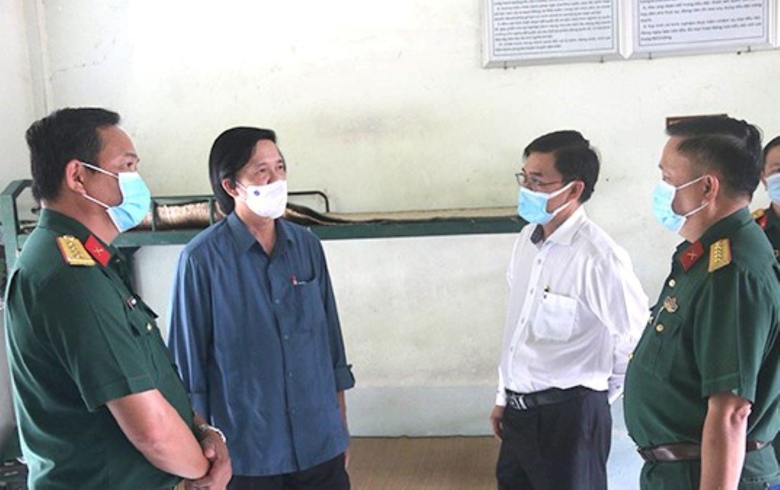 Lãnh đạo tỉnh Tiền Giang kiểm tra các khu cách ly hiện có trên địa bàn