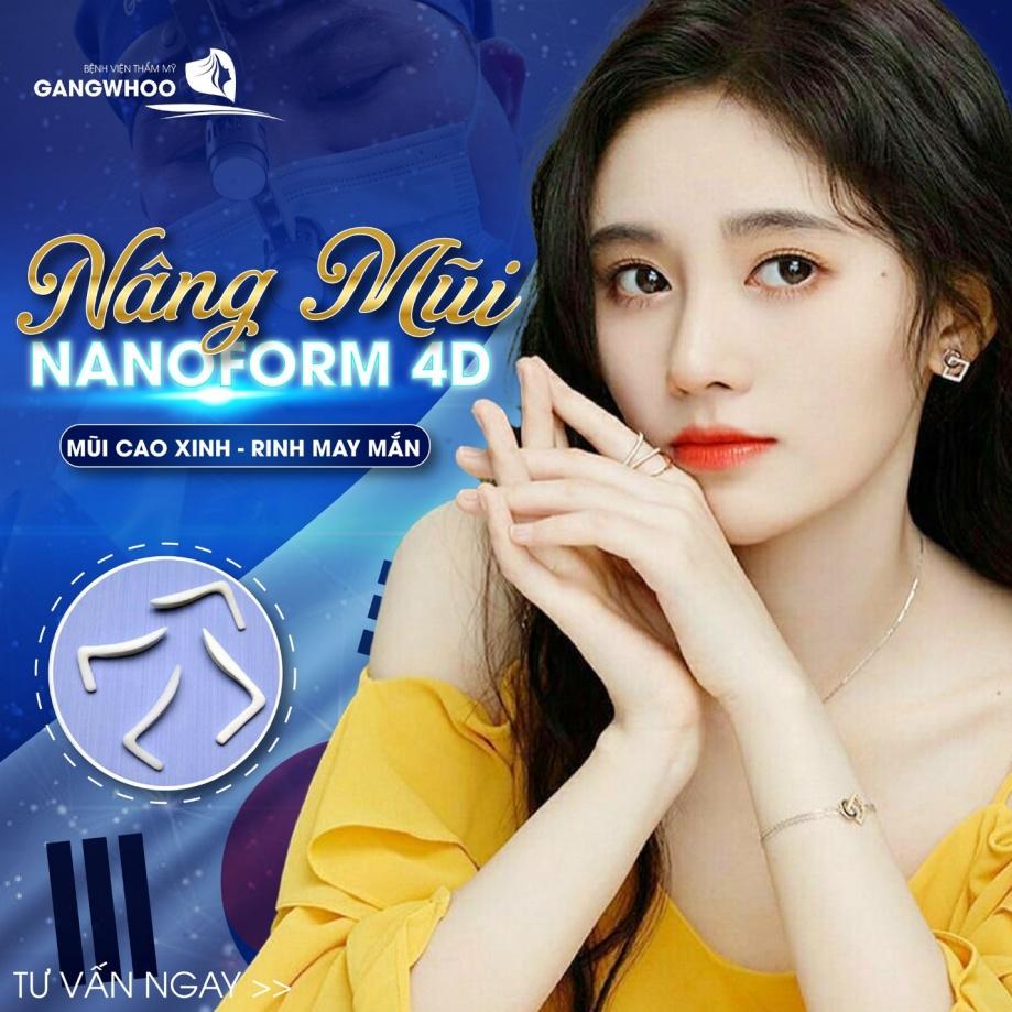 Nâng mũi Nanoform đẹp chuẩn sao cùng Bệnh viện thẩm mỹ Gangwhoo. Ảnh: Gangwhoo