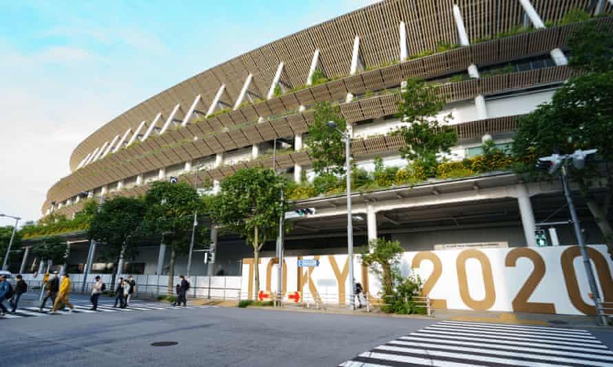 Sân vận động Quốc gia Tokyo. Kế hoạch mới thông qua sẽ cho phép 10.000 khán giả đến sân, hoặc chỉ được phép lấp đầy 50% sức chứa của một địa điểm thi đấu - Ảnh: Shutterstock