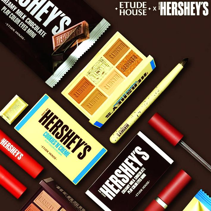 Sản phẩm làm đẹpdo Etude House phối hợp Hershey Corporation giới thiệu trông giống hệt những thanh chocolate