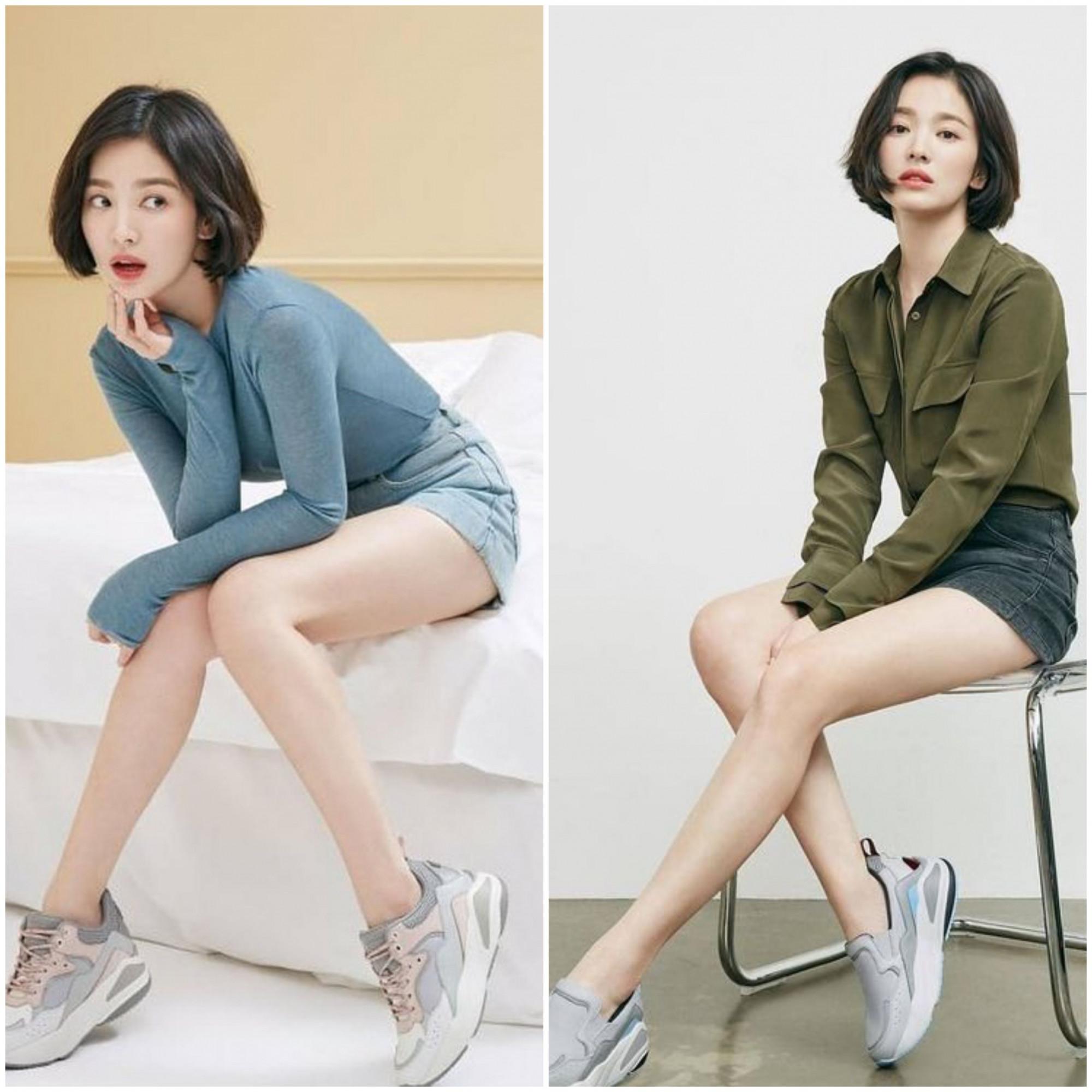 Tạo hình dáng ngồi giúp Song Hye Kyo che lập hạn chế chiều cao.