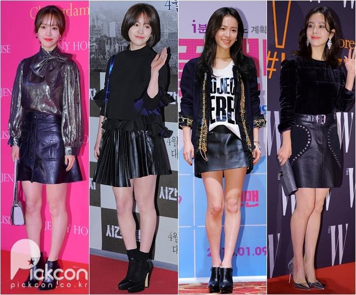 Han Ji Min ăn gian chiều cao đáng kể trong các mẫu váy ngắn.