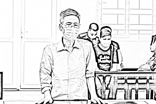 Bị cáo Trần Văn Tròn tại tòa