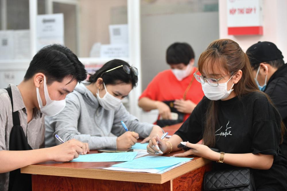 Nhiều người dân TP.HCM đi hiến máu trong đợt dịch ảnh: D.X.