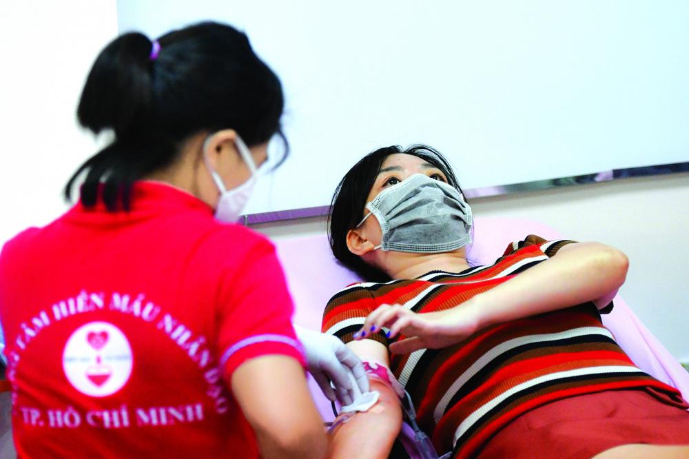 Nhiều người dân TP.HCM đi hiến máu trong đợt dịch ẢNH: D.X