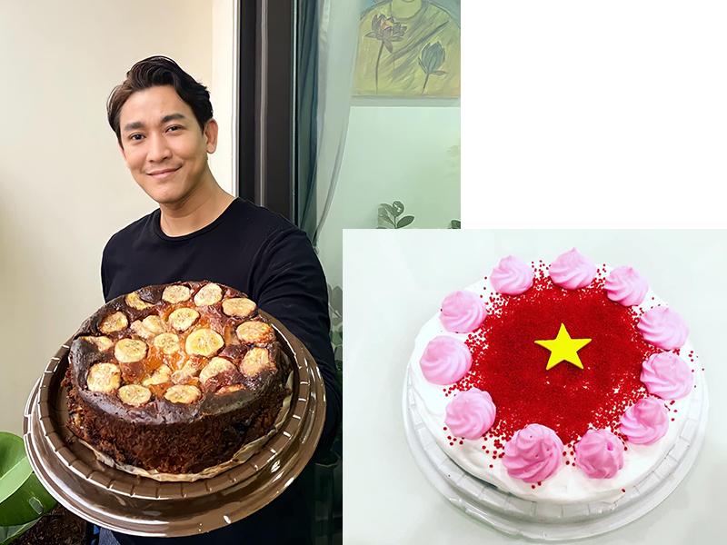 Trong đợt giãn cách kéo dài, diễn viên Hứa Vĩ Văn cũng tìm cách giải khuây từ gian bếp nhỏ của mình. Anh thực hiện một số móc bánh.