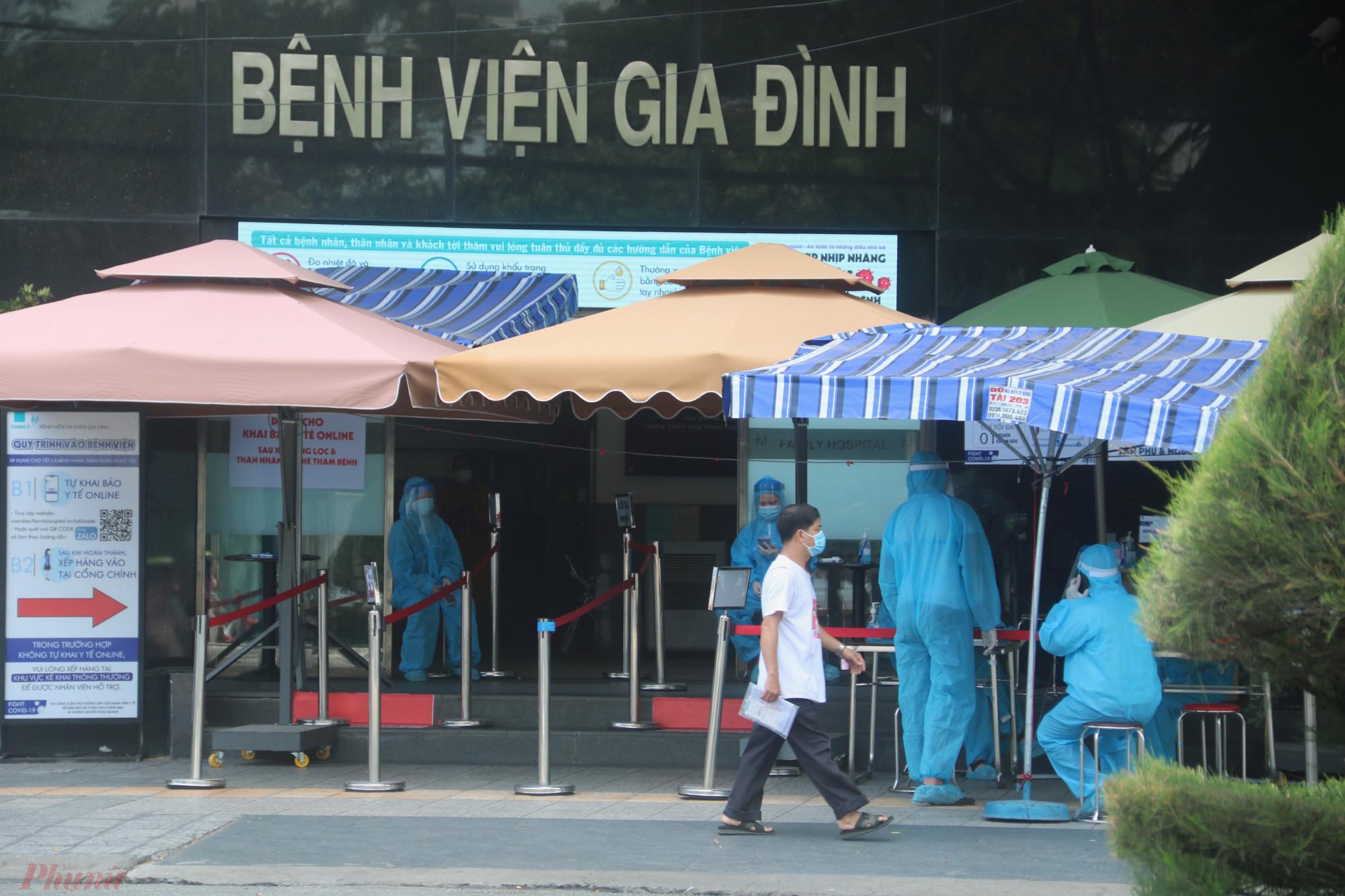 Bệnh viện Gia đình đã kích hoạt các biện pháp phòng dịch sau khi phát hiện ca dương tính SARS-CoV-2