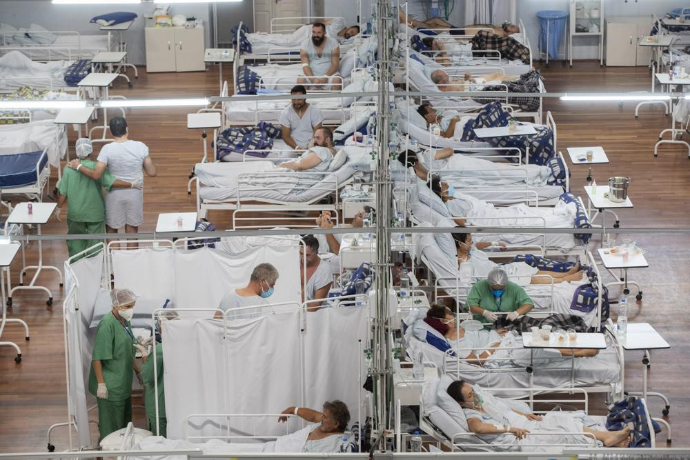 Một bệnh viện dã chiến điều trị cho bệnh nhân COVID-19 ở ngoại ô Sao Paulo