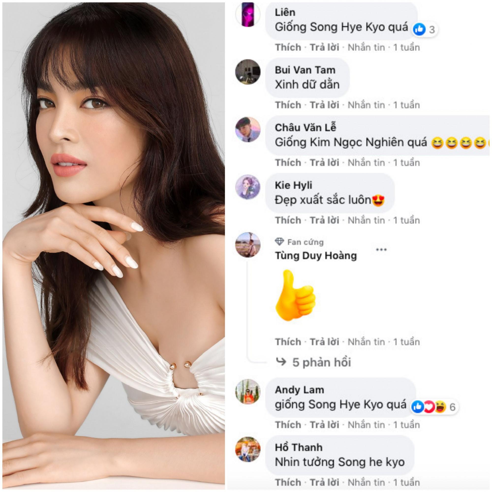 """Phù hợp và ưa chuông lối make up đậm chất phương Tây nhưng Trần Đài cũng nhiều lần khiến khán giả trầm trồ với nhan sắc trong veo khi sử dụng lối trang điểm """"sương sương"""" chuẩn phong cách Hàn Quốc. Thậm chí, nhiều khán giả còn bình luận cho rằng nét đẹp và cách makeup của Trân Đài khiến cô đẹp toả sáng như ngôi sao đình đám xứ Hàn Song Hye Kyo."""