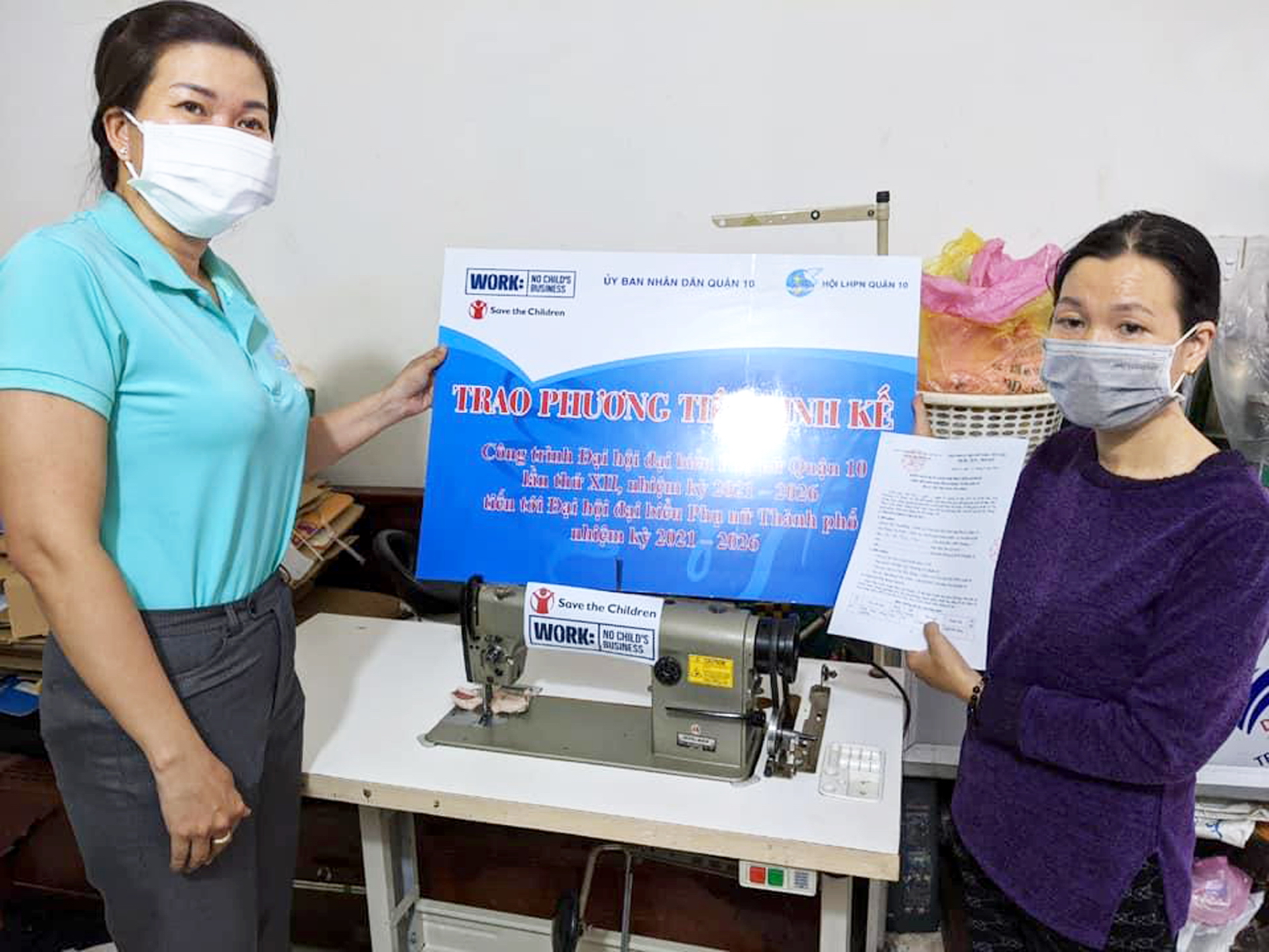 Hội LHPN Q.10 tặng phương tiện sinh kế giúp phụ nữ có việc làm ổn định cuộc sống