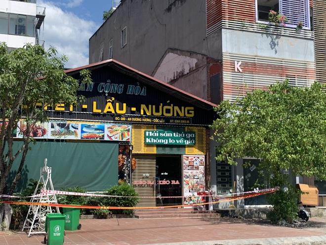 Phong tỏa quán ăn liên quan đến bệnh nhân mắc Covid-19 trên đường An Dương Vương, thành phố Lào Cai.