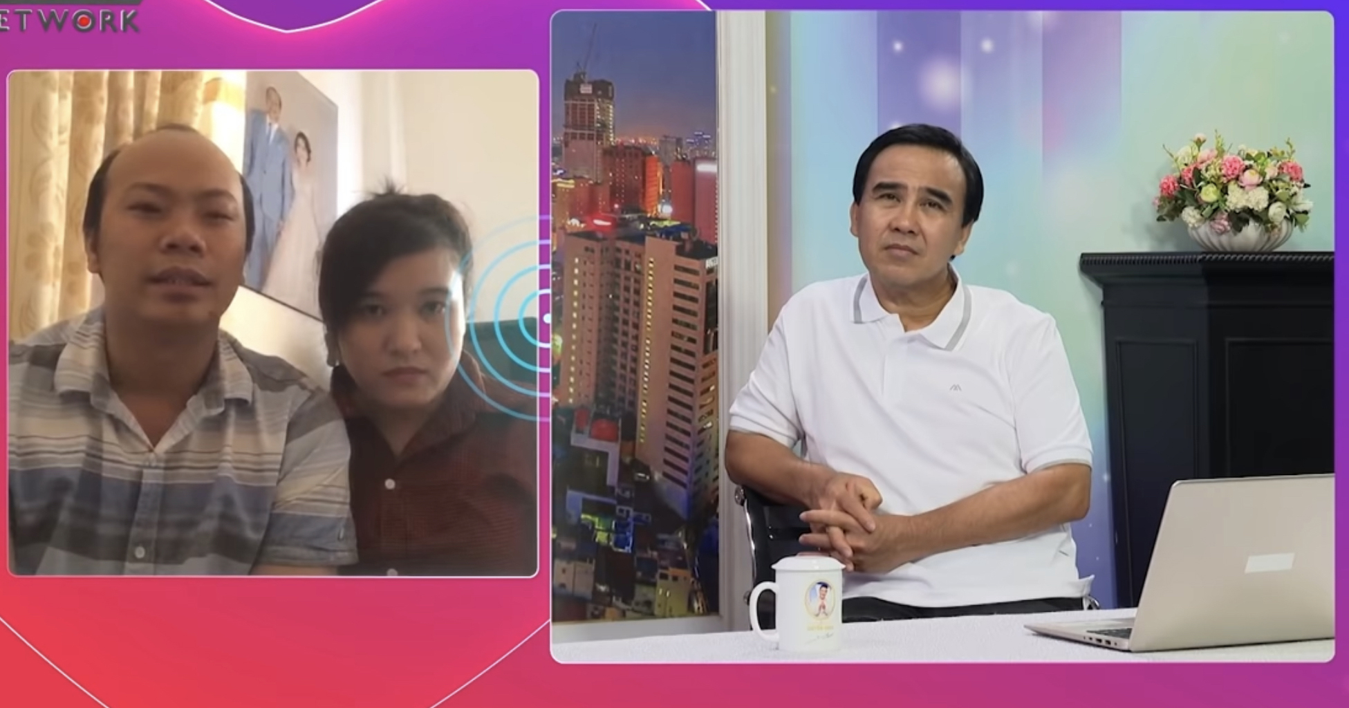 MC Quyền Linh trong chương trình Ông mai hẹn hò