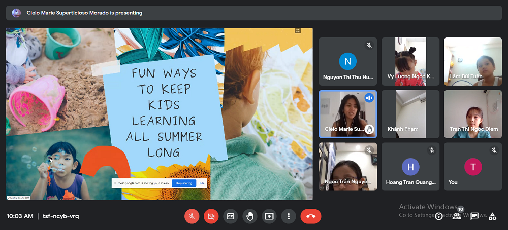 Nền tảng trực tuyến cũng phần nào giúp các bạn học sinh trau dồi kỹ năng sử dụng máy tính và ứng dụng công nghệ thông tin của mình - Ảnh: Royal School