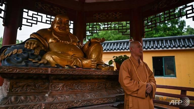 Với sự giúp đỡ từ các tình nguyện viên và người làm công đức, thầy Zhi nuôi vài trăm con chó tại chùa Bao'en của mình.