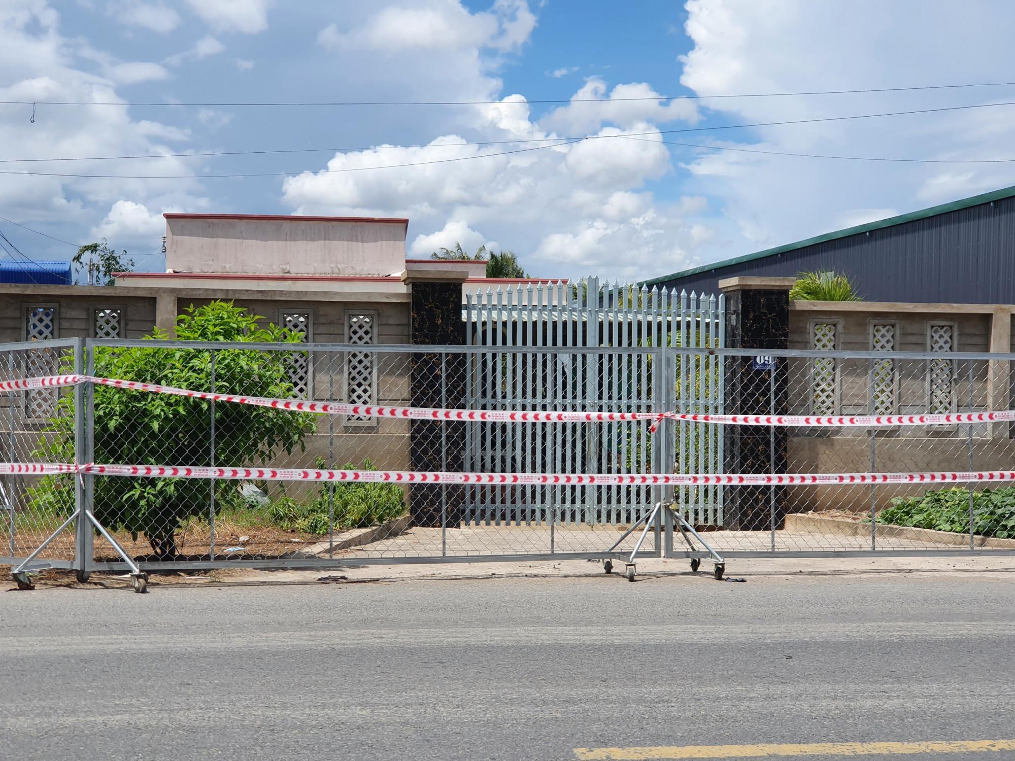 Khu phong tỏa tại khu phố 3 - nơi 2 ca được phát hiện dương tính với SARS-CoV-2