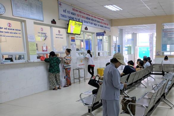 Khu vực đăng kí khám tại Bệnh viện đa khoa Sài Gòn thời điểm trước khi bùng phát dịch COVID-19.