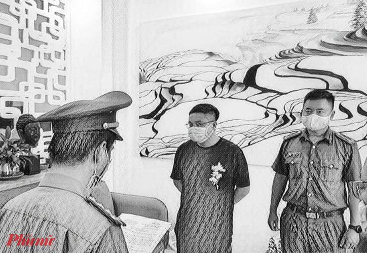 Cơ quan công an đọc lệnh bắt Jiang Fei