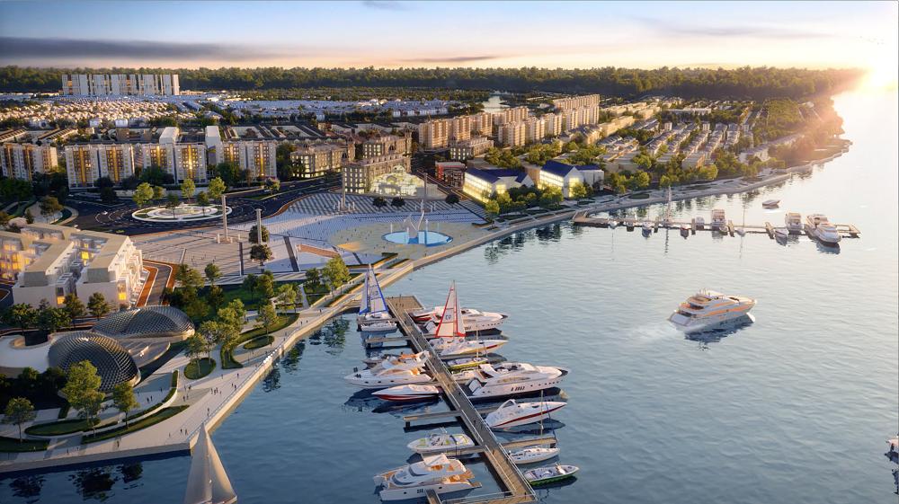 Bến du thuyền 5 sao Aqua Marina là điểm nhấn ấn tượng của Aqua City, thỏa mãn lối sống đỉnh cao của cư dân và du khách thượng lưu (ảnh phối cảnh)