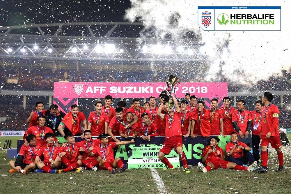Herbalife Việt Nam đồng hành cùng giải AFF Suzuki Cup 2020 dự kiến sẽ diễn ra vào tháng 12 năm 2021. Ảnh: Herbalife Việt Nam