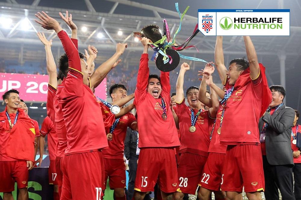 Đội tuyển Việt Nam sẵn sàng bảo vệ ngôi vương tại AFF Suzuki Cup 2020. Ảnh: Herbalife Việt Nam
