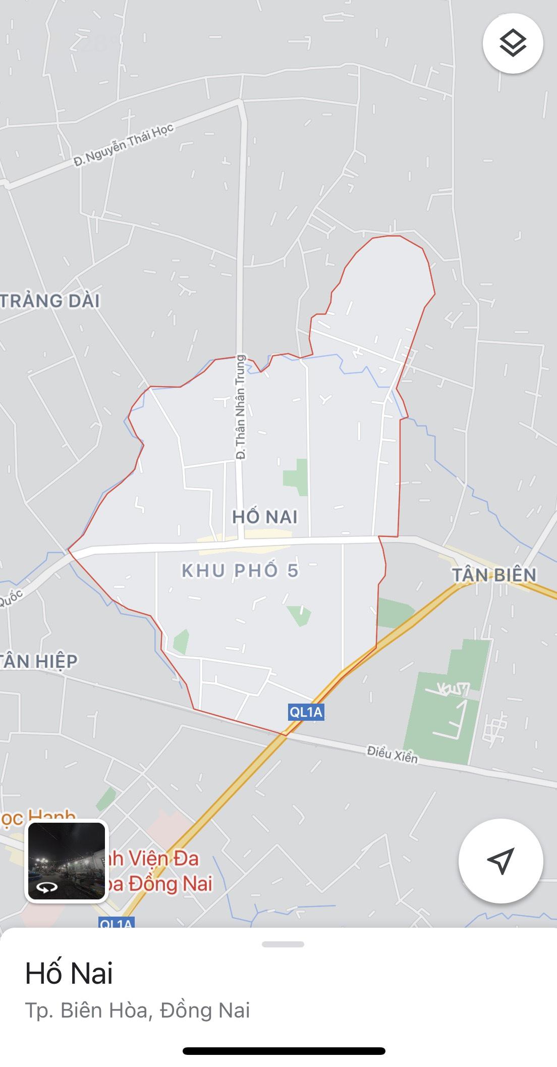 Nhiều địa điểm tại P. Hố Nai, TP. Biên Hoà phải phong tỏa tạm thời vì có ca nhiễm COVID-19 từng ở và ghé qua