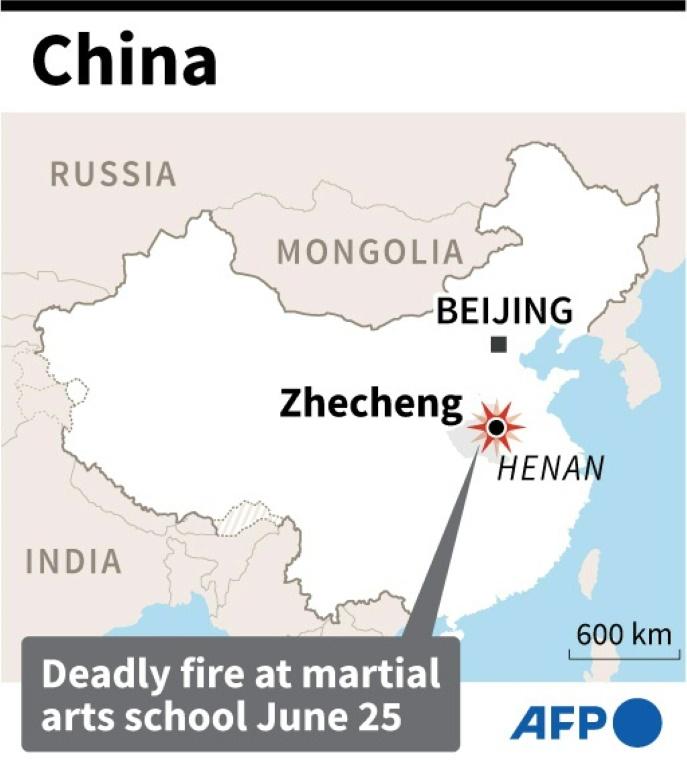 Vị trí đám cháy trên bản đồ
