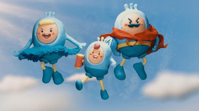 Gia đình siêu anh hùng của PO với tạo hình từ đất sét
