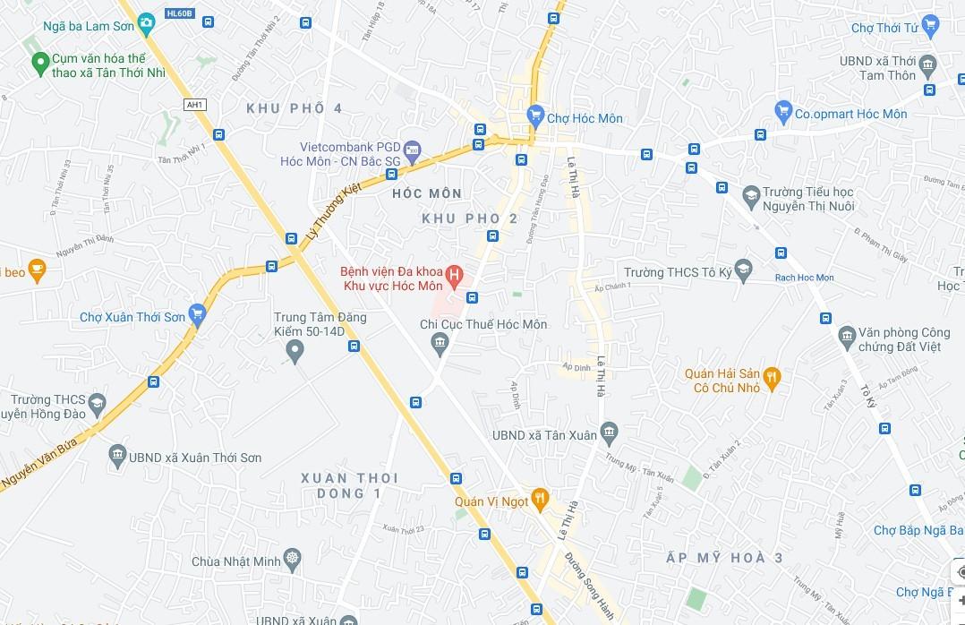 Lộ trình tham khảo tránh lưu thông trên đường Bà Triệu đoạn từ đường Song hành Quốc lộ 22 đến đường Quang Trung