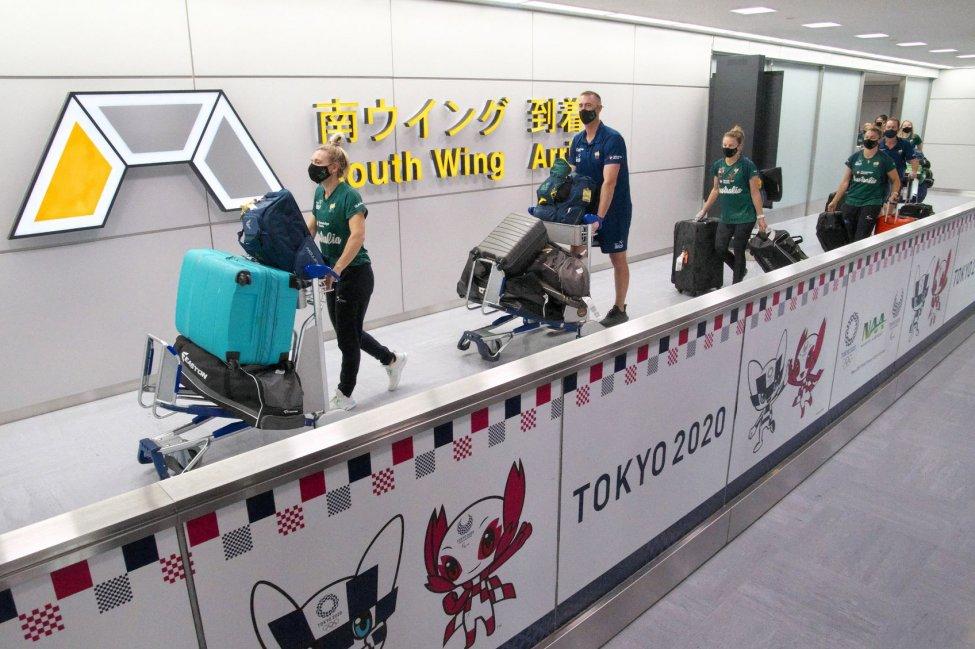 Từ tháng Giêng năm nay Nhật Bản đã đón 2.925 VĐV và quan chức Thế vận hội từ nước ngoài đến tham dự Olympic Tokyo - Ảnh: UPI