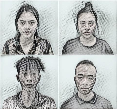 Đội Cảnh sát hình sự Công an quận Đống Đa đã bắt giữ Hạnh, Hiếu, Trang, Tú để điều tra về hành vi Cướp tài sản.