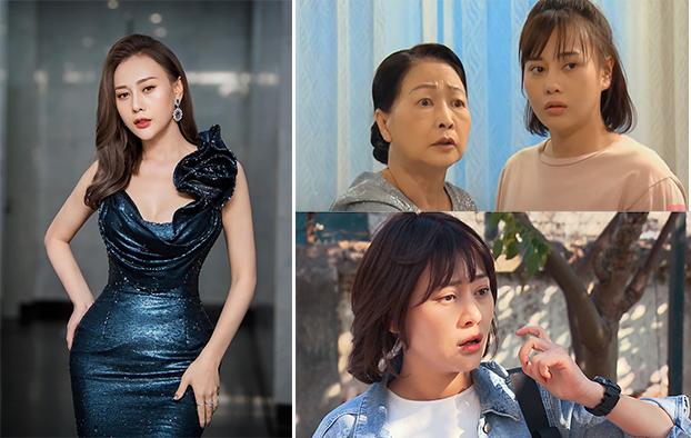 Diễn viên Phương Oanh sau khi tăng 6 kg, gương mặt của cô tròn và vóc dáng cũng đẫy đà hơn.