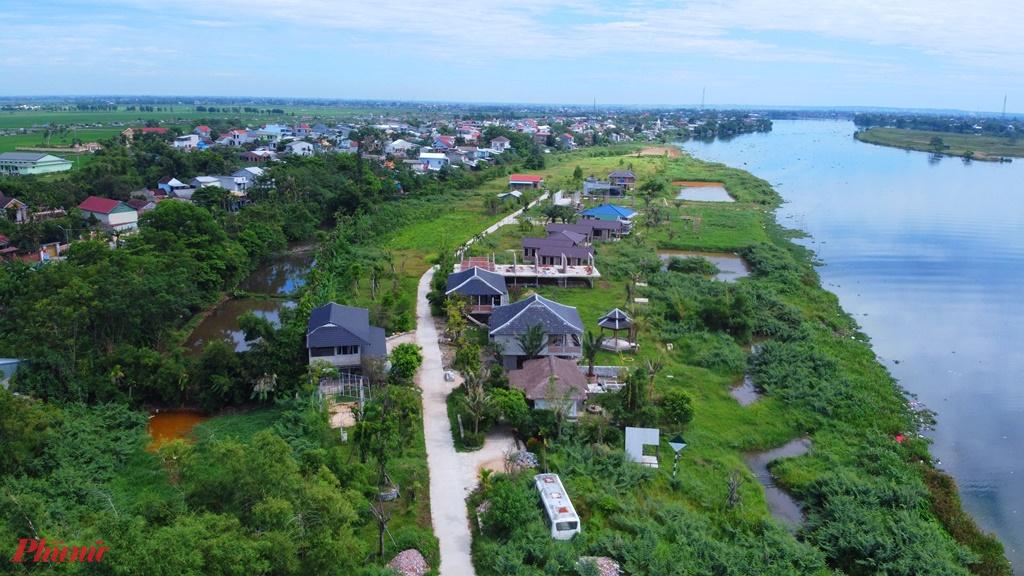 dự án Go Green Farm ngang nhiên xây dựng hàng loạt công trình không phép ven sông Hương