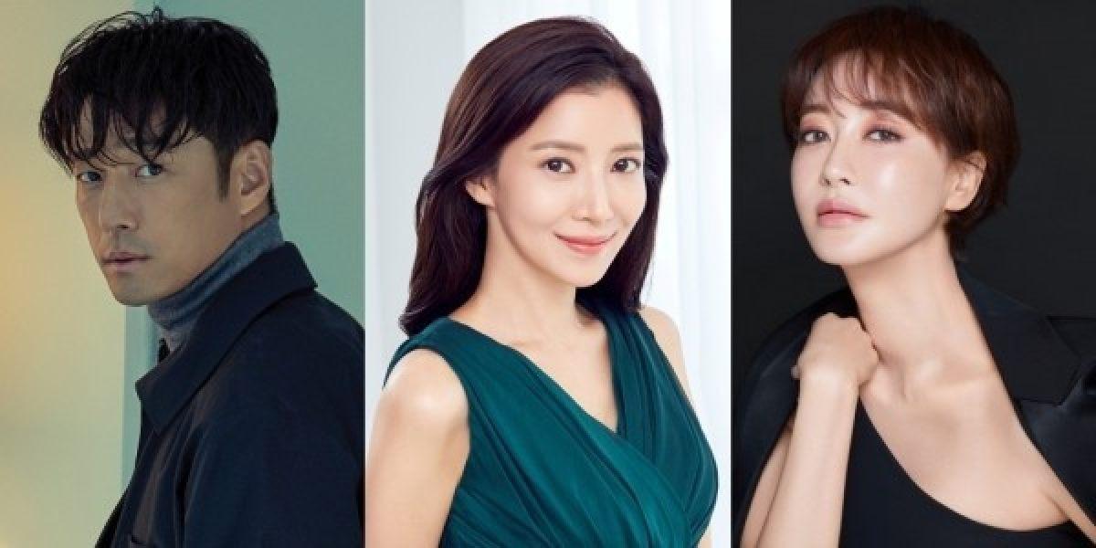 Dàn diễn viên thực lực Ji Jin Hee, Yoon Se Ah and Kim Hye Eun (từ trái sang) góp mặt trong phim The Road: Tragedy of One